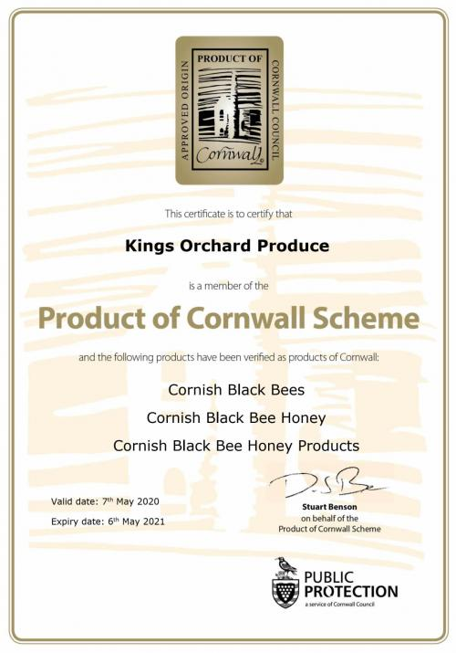 Product of Cornwall certification